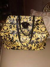 NEW Versace handbag/tote Black & gold 'Barocco' from Versace w/ large Medusa