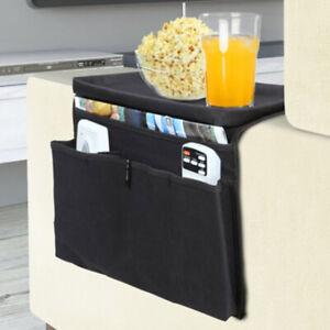 Sofa Arm Rest Organizer 5 Pocket Caddy Couch Tray Remote Control Holder Table