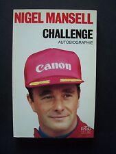 "(Formule 1) - Nigel Mansell  ""Challenge"" (Autobiographie) / éd. Ergo-Press -1989"