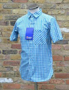 Berghaus Men's Salisbury Short Sleeved Shirt, Small, Blue Lagoon NEW RRP£40