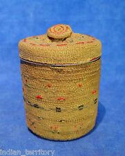 Attu Indian Basket Over Jar and Lid c.1950