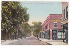 STEVENS POINT WISCONSIN ,MAIN ST.1900'S , UNUSED POSTCARD, OLD VIEW OF MAIN ST.