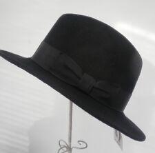 Damen Herren Hut Straßenhut schwarz Wollhut klassisch elegant schick Mützen