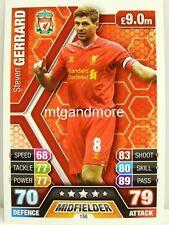 Match Attax 2013/14 Premier League - #156 Steven Gerrard - Liverpool