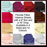 PERCALE BEDDING Box Pleated Fitted Valance Sheets