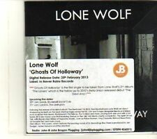(DR927) Lone Wolf, Ghosts Of Holloway - 2013 DJ CD