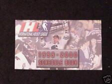 1999-2000 IHL International Hockey League Schedule Book