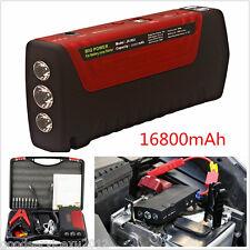 12V Red Shell 16800mAh Autos Truck Power Bank Jump Starter Emergency Battery Kit