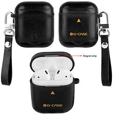 For AirPods Apple AirPod Genuine Leather Protective Anti-shock Shell Case Cover