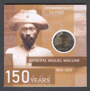 2015 Philippine 10 Piso Commemorative GEN. MIGUEL MALVAR Bi-Metal Coin