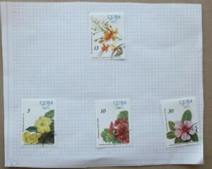 VARIOUS STAMPS & VALUES - FLOWERS PART SET - FOR COLLECTORS ONLY WINK WINK
