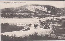 LUGAGNANO D'ARDA PIACENZA AUTO POSTALE FERMA PER LA FOTO ANIMATA 1917 SUPER !