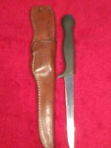 VINTAGE GERBER COHO LEGENDARY BLADES USA ARMORHYDE FISHING FILET KNIFE KNIVES