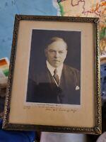 Rare Autograph of William Lyon Mackenzie King Signed Photo Prime Minister Canada