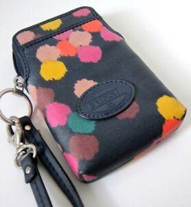 FOSSIL Phone Bag Purse Wallet Wristlet, Dot Stellar Multicolour