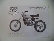 advertising Pubblicità 1978 MOTO TGM 250 CROSS C