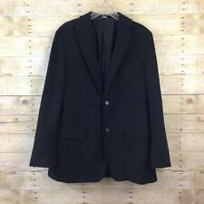 Hugo Boss Mens Black Velvet Pinstripe Blazer Suit Jacket Size 42L 42 Long