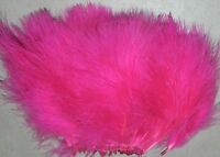 1/2 oz. Strung Hot Pink Blood Quill Marabou Feathers