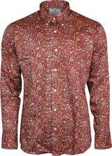 Camicie casual e maglie da uomo rossi button down