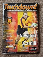 SIGNED Newport v Cardiff 2003 Rugby Programme - Touchdown