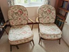 More details for pair ercol 203 windsor easy chairs armchairs