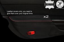 Punto Rojo 2X Puerta Apoyabrazos Cuero Cubre se adapta a 350Z Z33 2007-2009 Facelift