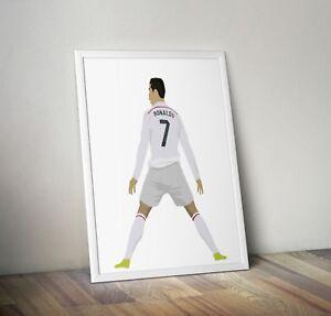 Cristiano Ronaldo, Real Madrid, Print, Poster, wall art, gift, home decor