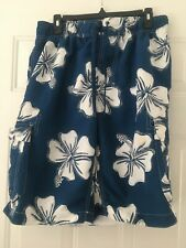 New listing MEN'S BLUE & WHITE SWIMMING TRUNKS SIZE XL - PREOWNED