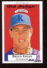 1995 Old Judge Baseball Card #11 Brian Giles Autographed NRMT