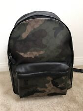 $550 NWT COACH Men's CHARLES ANIMATED SIGNATURE CAMO PRINT BACKPACK F59914