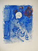 CHAGALL - STILL LIFE - ORIGINAL LITHOGRAPH - 1952 - FREE SHIP IN  US  !!!