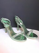HELENS HEART Lime Green Pageant Prom Sandals Heels Size 9 New
