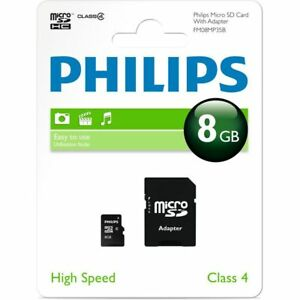 8GB MICRO SD CARD WITH ADAPTER CLASS 4