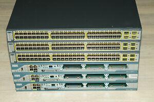 Cisco CCNA CCNP CCIE Lab Kit 3x WS-C3750-48 PoE 3x CISCO2801 Guiding DVD
