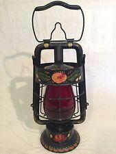 Vintage DIETZ FIRE DEPT Red Globe Lantern FITZALL Custom Decorative Artwork