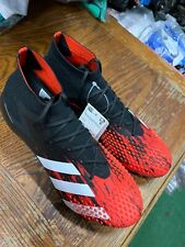 Adidas Predator Mutator 20.1 Fg Soccer Cleats Black Red White Size Mans 9.5 Only