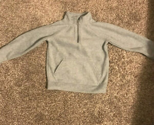 Old Navy Fleece Grey 3/4 Zip Pullover 4t