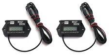 (2) Waterproof Tiny Tach Digital Hour Meters Tachs Boat PWC Jet Ski Watercraft
