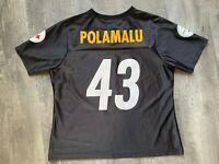 Pittsburgh Steelers Troy Polamalu Jersey #43 Womens  Size Large Black