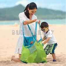 Large Portable Mesh Sand Away bath Bag Dredging Pouch Children's Toys Beach Bag