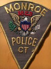 MONROE CONNECTICUT Police patch CC