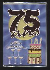 NEUF CARTE  ANNIVERSAIRE 75 ans + ENVELOPPE !! 10 CARTES ACHETEES = PORT GRATUIT