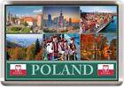 POLAND FRIDGE MAGNET WARSAW KRAKOW GDANSK POLISH FLAG 70mm x 45mm (SFPOL1.1)