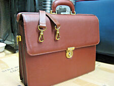 Auth Salvatore Ferragamo Italy Vintage Leather Lawyer Doctor Briefcase Bag