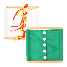 Montessori Practical Life Material-Beechwood Dressing Frame Kids Toy 2 Pack
