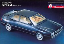 Maserati Ghibli Granturismo (Biturbo type) sales brochure UK market