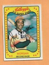JOE MORGAN 1981 KELLOGGS 3-D SUPERSTARS CARD # 22