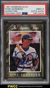 1991 Donruss Elite Ryne Sandberg PSA/DNA AUTO /5,000 PSA 9 MINT