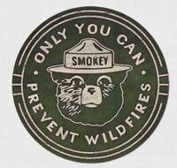 Smokey Bear Round Metal Tin Sign Home Fire Camp Garage Bar Shop Wall Decor #2387