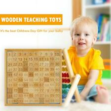 Montessori Mathematics Educational Wooden Learning Math Toys 1-100 Number Table